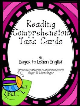 BILINGUAL SET: Reading Comprehension Task Cards (Color-Cod