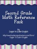 BILINGUAL BUNDLE: Second Grade Math Reference Packet