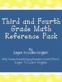BILINGUAL BUNDLE: Third & Fourth Grade Math Reference Pack
