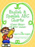 BILINGUAL SET: Zaner-Bloser Alphabet Charts {All Letter Sounds!}