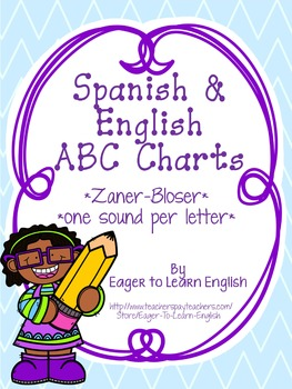 BILINGUAL SET: Zaner-Bloser Alphabet Charts {Correlate for Easy Transition!}
