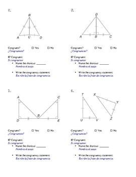 SPANISH Triangle Congruence Levels