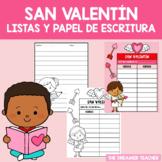 Valentine´s Day Class List. Freebie. SPANISH
