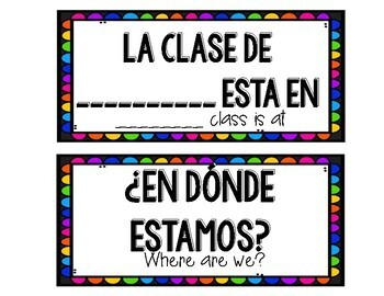 BILINGUAL WHERE ARE WE CARDS