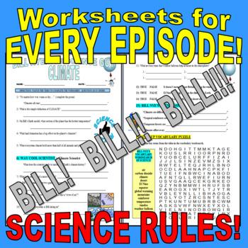 BILL NYE THE SCIENCE GUY - SUPER BUNDLE (WORKSHEETS FOR EVERY EPISODE!)