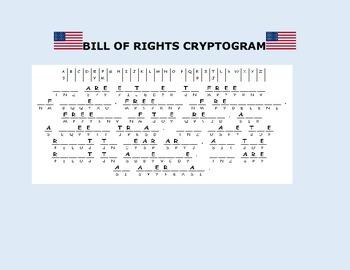 BILL OF RIGHTS CRYPTOGRAM