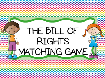 BILL OF RIGHTS MATCHING CARDS