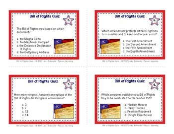 BILL OF RIGHTS QUIZ • MATCHING GAME • GRADES 5–8