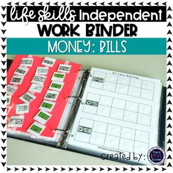 BILLS ONLY - Money Independent Work Tasks