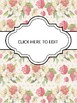 BINDER COVERS - FLORAL - EDITABLE