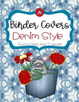 BINDER COVERS DENIM STYLE / EDITABLE