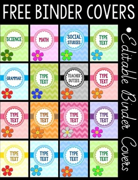 BINDER COVERS FREEBIE