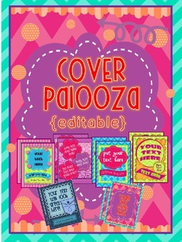BINDER COVERS & PRODUCT COVERS {EDITABLE}