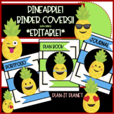 BINDER COVERS Plan Book, Journals, Etc.-PINEAPPLE Themed *