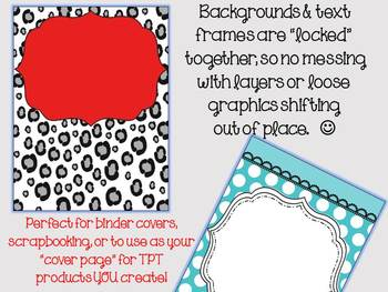 BINDER COVERS - Premade & Editable