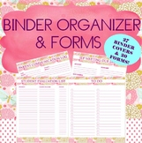 BINDER ORGANIZER AND FORMS FOR SPEECH THERAPY
