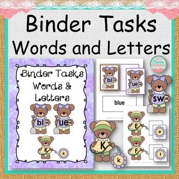 BINDER TASKS Words and Letters