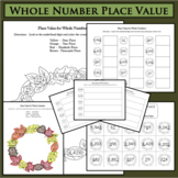 BUNDLE Fall Fun! Whole Number Place Value Ones Tens Hundreds Thousands Word