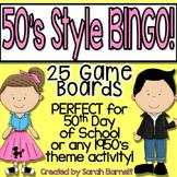 BINGO - 50th Day of School or Sock Hop Style!