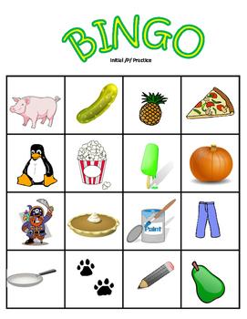 BINGO:A Fun Articulation Game / M, P, B /