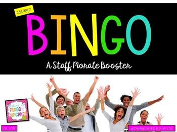 BINGO: A Staff Morale Booster (Editable)