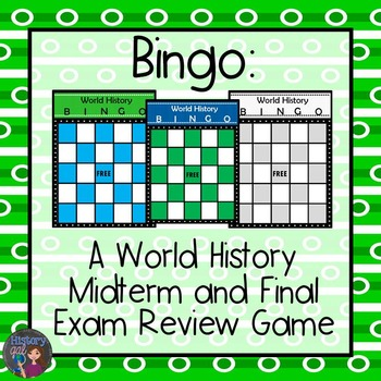 A World History EOC and Final Exam Review Game - Bingo