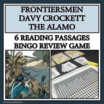 READING PASSAGES AND BINGO - Frontiersmen, Davy Crockett a