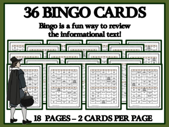 READING PASSAGES AND BINGO- Roanoke and Jamestown Settlers