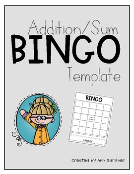 BINGO - Addition/Sums - Template