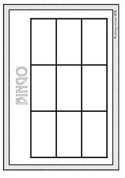 BINGO BOARD - Blank Game Board