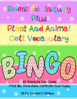 BINGO BUNDLE ~ Cell and Inquire Based Vocabulary