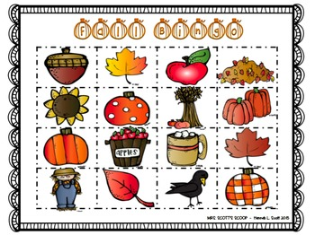 BINGO BUNDLE (Fall, Winter, Christmas & Valentine's Day) 24Cards & Calling Cards