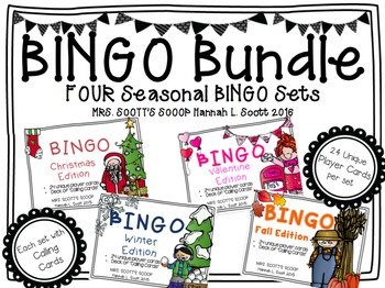 BINGO BUNDLE (Fall, Winter, Christmas & Valentine's Day) 2