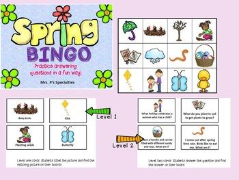 BINGO BUNDLE! Language Based Games for Each Season