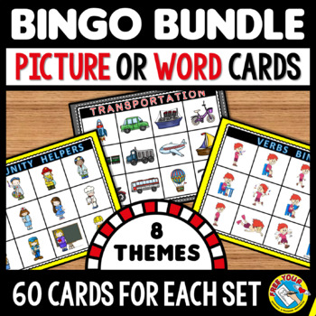 VOCABULARY ACTIVITIES: BINGO GAMES BUNDLE: VOCABULARY GAMES