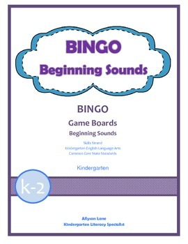 BINGO- Beginning Sounds FREEBIE