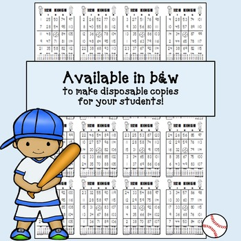 BINGO - Bingo Numbers to 120: Baseball Edition