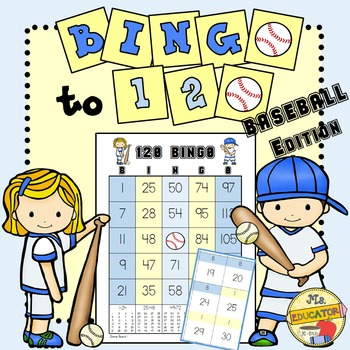 BINGO - Bingo Numbers to 120: Baseball Edition