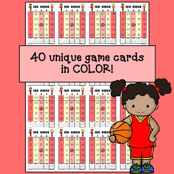 BINGO - Bingo Numbers to 120: Basketball Edition