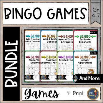 BINGO Math Games Bundle