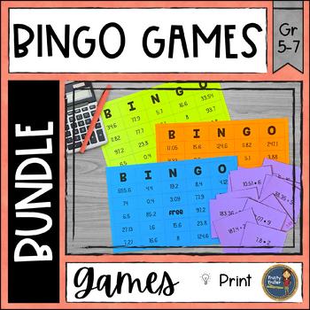 BINGO Math Games Bundle