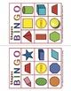 Prekindergarten Bingo Games 2D and 3D Shapes, Farm, and Color Recognition