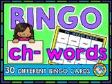 PHONICS BINGO: CH- WORDS BINGO: INITIAL SH WORDS GAME