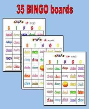 BINGO:  CH- Words