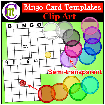 BINGO Card Templates Clipart