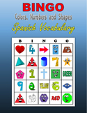 BINGO:  Colors, Numbers and Shapes (Spanish Vocabulary)