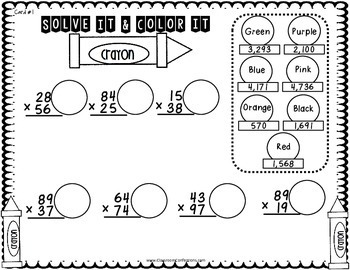 Multiplication Activity: Two Digit by Two Digit: Math Workshop: 4th-5th Grades