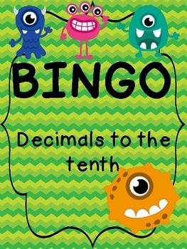 BINGO!  Decimals to the Tenth