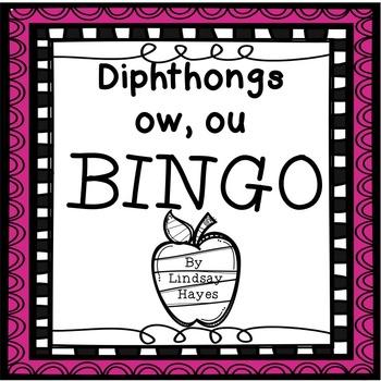 BINGO: Diphthongs ow, ou
