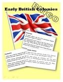 Early British Colonies BINGO